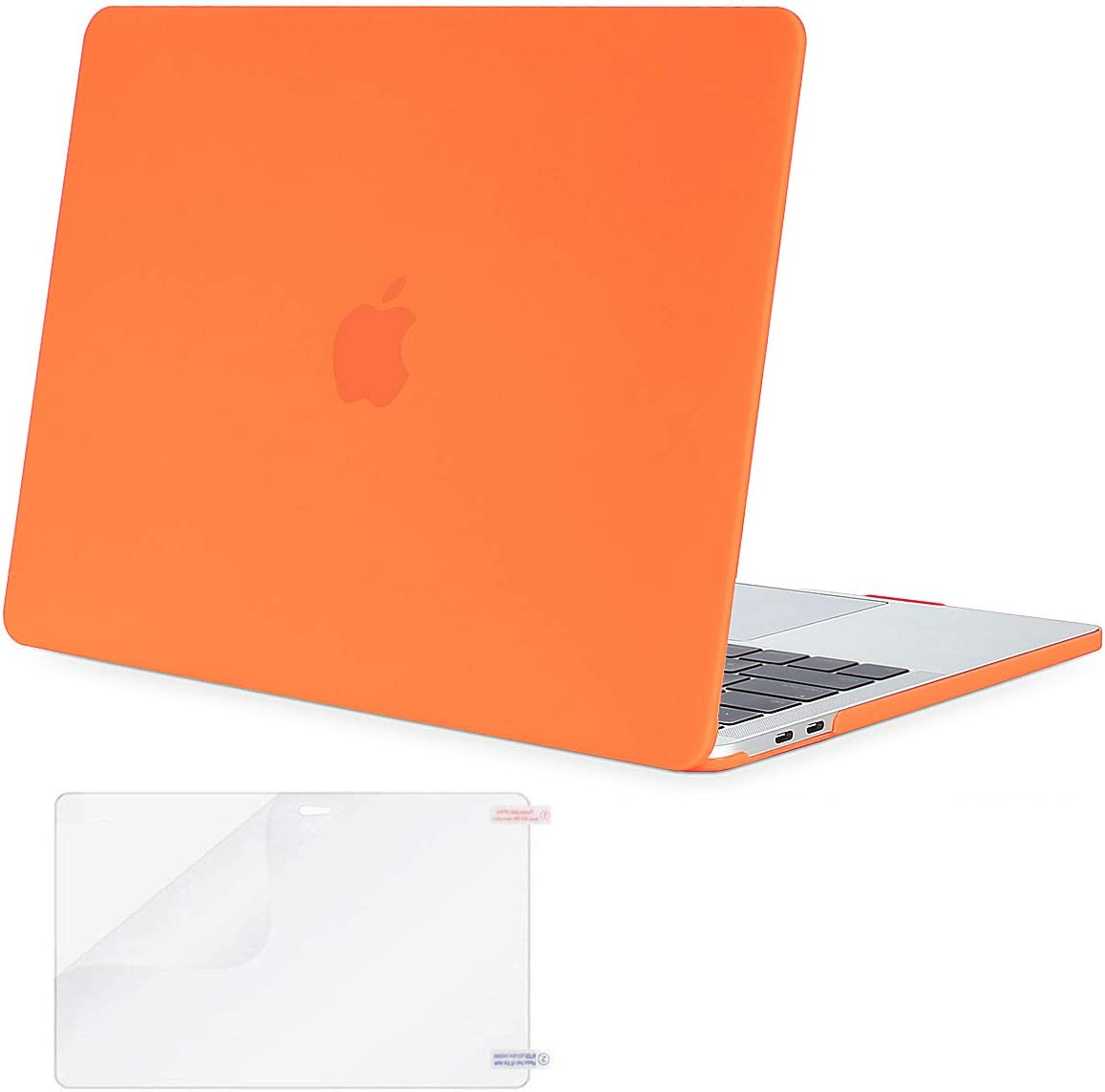 MOSISO MacBook Pro 13 inch Case 2019 2018 2017 2016 Release A2159 A1989 A1706 A1708, Plastic Hard Shell Case&Screen Protector Compatible with MacBook Pro 13 inch with/Without Touch Bar, Orange