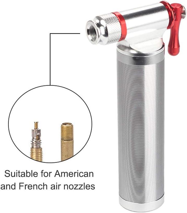KKmoon Mini Bomba de Bicicleta CO2 para Presta /& Schrader Bomba de Neum/ático de Alta Presi/ón para Bicicletas de Carretera y Monta/ña