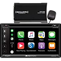 Soundstream Bundle of 2 items VRCP-65 In-dash DVD/CD/MP3 Receiver w/Sirius SXV300V1 Tuner