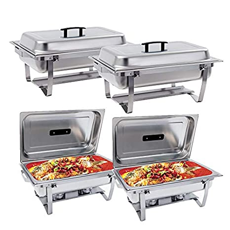 Fabulous Suncoo 8 Quart Chafing Dish Buffer Chafer Stainless Steel Full Size Chafer Dish Catering Buffet Warmer Set Rectangular Chafer W Water Pan Food Pan Interior Design Ideas Apansoteloinfo
