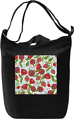 Red Flowers Print Borsa Giornaliera Canvas Canvas Day Bag| 100% Premium Cotton Canvas| DTG Printing|