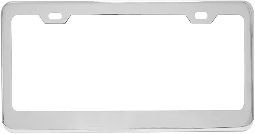 Grand General 60440 Chrome License Plate Frame with 2 Holes