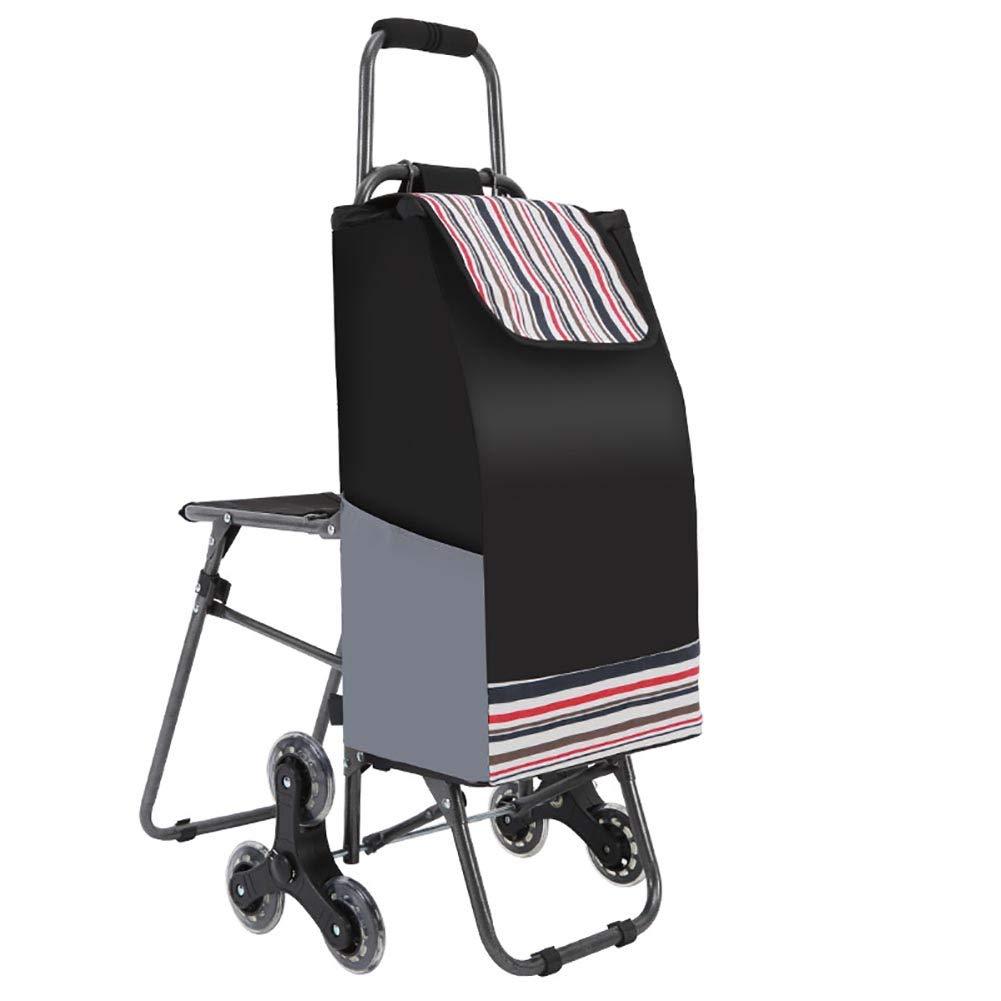折り畳み式ショッピングカート、ローリングスイベルホイールとリムーバブル防水キャンバスバッグ付き軽量階段クライミングカート。 B07G5Q9WCL Rose red
