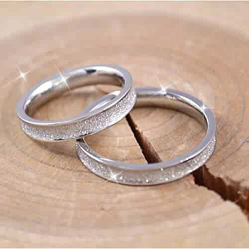 47fd5ed71d Free Custom Lettering Steel Frosted Couple Lover Rings Personalized DIY Ring  Tail Ring on Ring Men