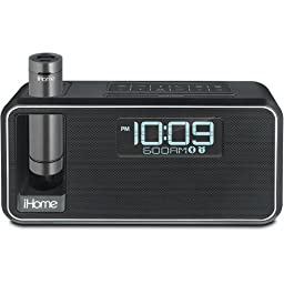 iHome All in One Compact Bluetooth Wireless Dual Alarm Clock with Large Easy to Read Backlit LCD Display Plus K-CELL Portable Battery Pack