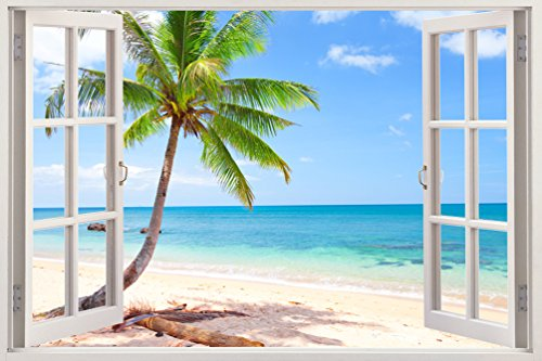Removable Wall Decals - Huge Vinyl Mural - 3D Window view...