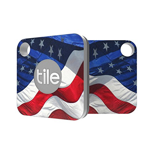 Tile Mate Compatible - USA Waving American Flag Premium Skin Decal by Aretty (2 - Pack)