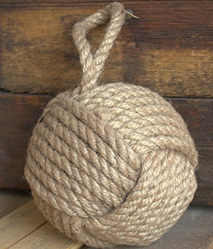 5'' Monkey Fist Nautical Doorstop Rope Sailor Knot by MobyDick