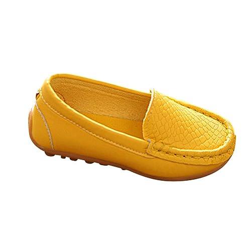 Daytwork Zapatos Zapatillas Deporte Antideslizante - Niño Niña Mocasines Chicos Chicas Pisos Mocasines Cuero Caminar Guisantes Oxford Slip-on Casual Niños ...