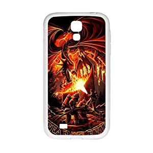 DAZHAHUI Firefighter Fear No Evil Dragons Cell Phone Case for Samsung Galaxy S4