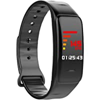 GLDMT Unisexo Pantalla De Color Bluetooth Reloj Deportivo Pulsera Inteligente, Monitor De Presión Arterial Saludable De Ritmo Cardíaco, Podómetro Electrónico Multifuncional De Silicona