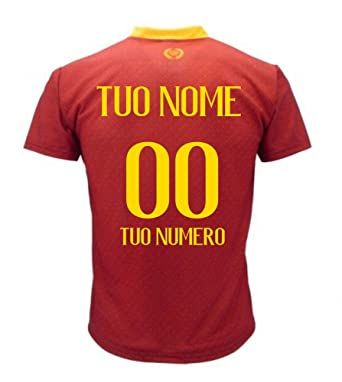 Maglia Calcio Roma Personalizzabile Replica Autorizzata 2019-2020 Taglie da Bambino e Adulto Personalizza con Il Tuo Nome o del Tuo Giocatore Preferito.