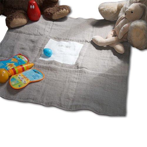Lina Forlino Tuamotu linen baby playmat/blanket white/natural