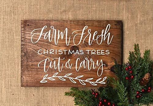 Delia32Agnes - Cartel de Madera para árbol de Navidad ...