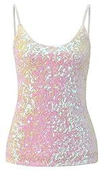 Women's Sequins Summer Short Camisole Tank Tops