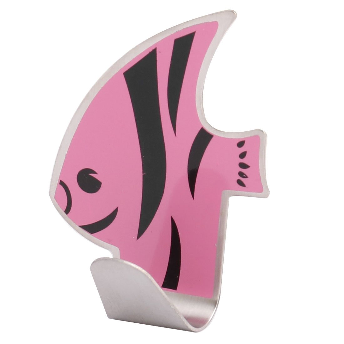 uxcell Stainless Steel Fish Shaped Household Bathroom Self Adhesive Wall Hanger Hook Tricolor good