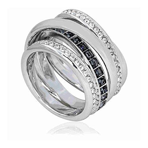 Swarovski Dynamic Silver-tone Ring - Size 8 by Swarovski