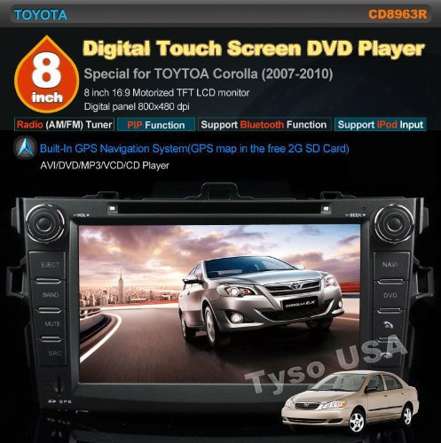 Amazon.com: Car Stereo for Toyota Corolla (Support Year 2007 2008 2009 2010) 8 inch Indash CAR DVD Player GPS Navigation Navi iPod Bluetooth Rear Camera HD ...