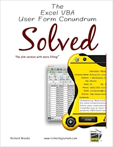 Buy The Excel Vba User Form Conundrum Solved: Excel