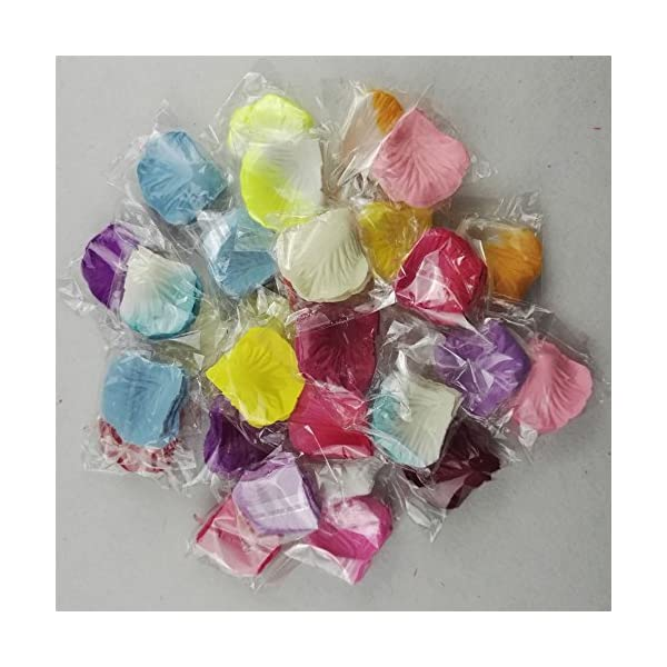 Skyshadow Colorful Artificial Flowers Monolithic Rose Petals Wedding Silk Petals Romantic Proposal (3000 pcs)