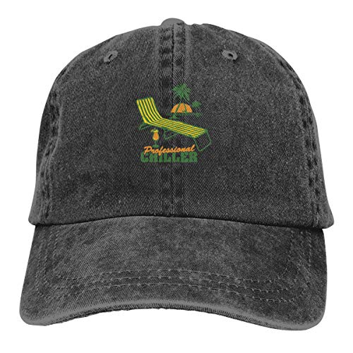 Professional Chiller Classic Vintage Washed Denim Cap Baseball Hat Unisex