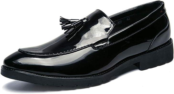 Cuero Zapatos Oxford con Borla para Hombre Mocasines Slip-On ...