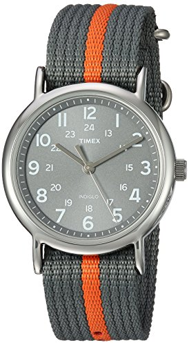 Timex Weekender Orange Stripe Slip Thru product image