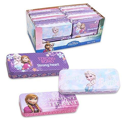 Set of 3 Pieces Disney Frozen Elsa & Anna Tin Pencil Cases Pencil (Frozen Tin Box)