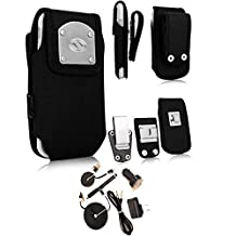 Rugged Gladiator Nylon Heavy Duty Case, 3 inch belt loop clip, Steel Clip and USB Power Kit fits LG G3 with an Otterbox Defender Case
