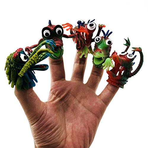 Children's Adult Toys Environmentally Friendly PVC Funny Children's Finger Toy Monster Doll Hand Puppet Children's Day Decompression Toy Gift (5PC) (Multicolor, 5PC)