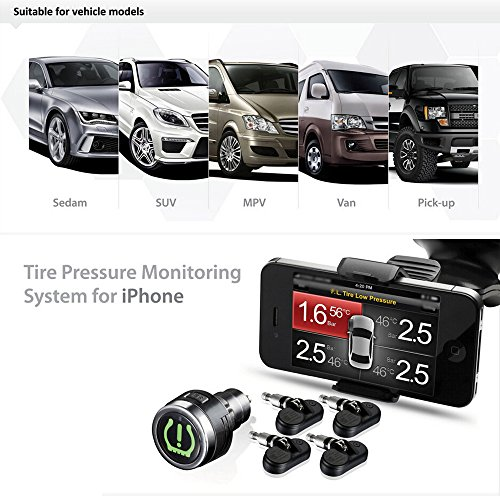 Kkmoon Tpms 85 Wireless Bluetooth Tire Pressure Monitoring