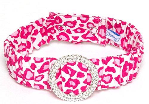 Schmoozies Leopard Aromatherapy Pet Collar, Pink, X-Large