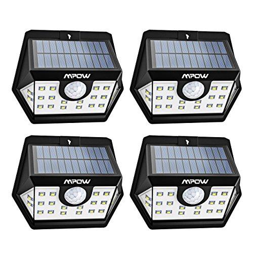 Mpow Version Avancee Lampe Solaire 4 Pack 20 Led Etanche
