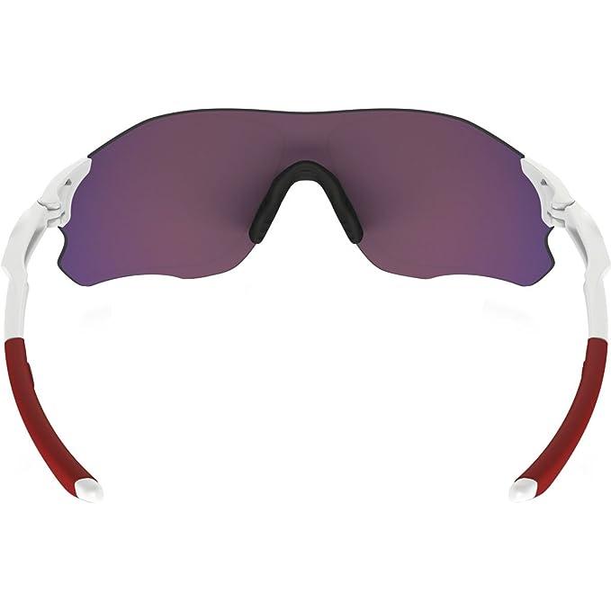 6996922a3 Amazon.com: Oakley Zero Path Sunglasses White/Prizm Road: Clothing