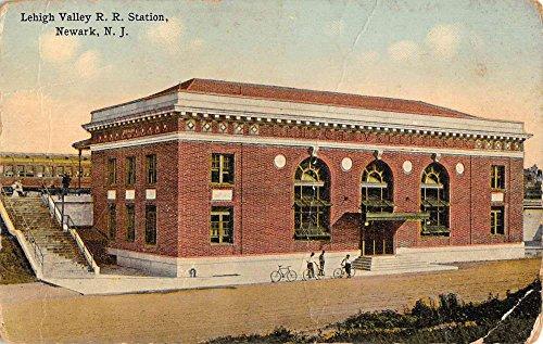 Newark New Jersey Lehigh Valley Railroad Station Antique Postcard K95961