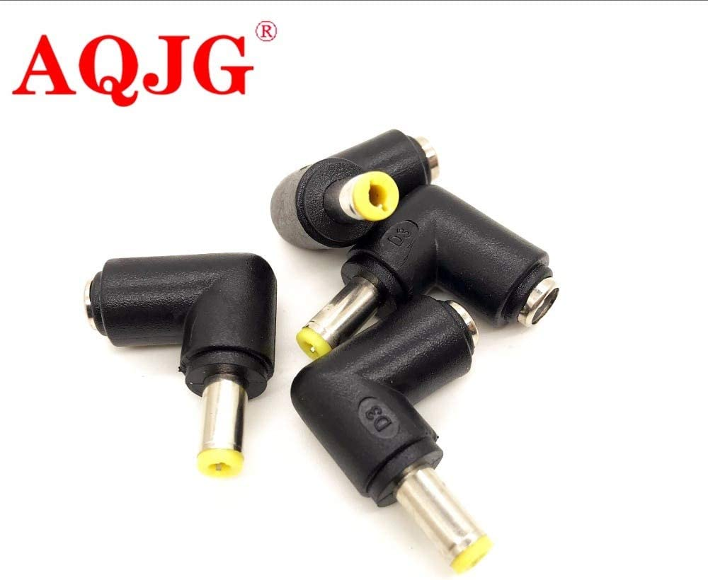 Connectors 1pcs 5.5x2.5 mm Female to 5.5x2.5 mm Male DC Power Plug 90 Degrees L Type Connector Adapter Laptop Cable Length: Other