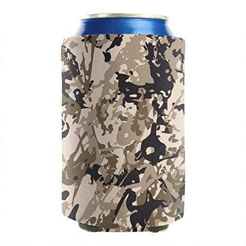 Classic Woodland Fashion Camouflage 12-16 OZ Bottles Premium Neoprene Beer Can Sleeves Non-Slip Can Cooler Covers Keeps Drinks Cold 2-Pack Events