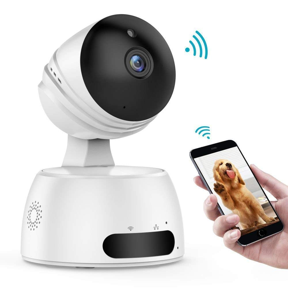 IP Camera, HUAZHAO 1080P HD WiFi Home Surveillance Security Baby Camera Wireless Remote Two-Way Audio Night Vision Pet Monitor, Motion Detection Indoor Home Baby Elder Nanny Pet Camera, White