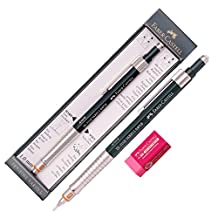 Faber Castell Tk Fine Vario L Drafting Mechanical Pencil 1.0 Mm +Packing Case / Gift Eraser by Faber-Castell