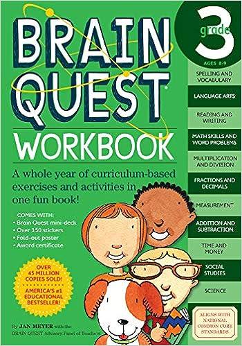 Brain Quest Workbook Grade 3 Meyer Janet A 0019628149169 Amazon Com Books