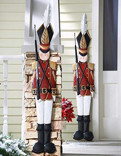 - Collections Etc Metal Holiday Tin Soldier Wall Decoration, 45