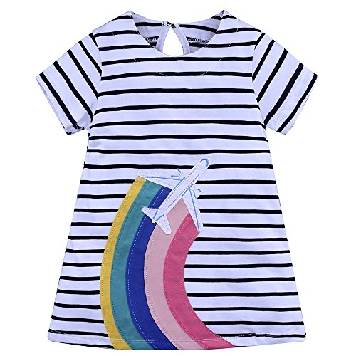 Kids Girls' Dress Summer Short Sleeves Cotton Casual Dress