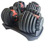 Body Revolution Selectable Dumbbell Set Adjustable Selectable Dumbbells 24kg 40kg Weights (2 x 24kg)