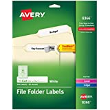 Avery File Folder Labels for Laser and Inkjet Printers, 0.6 x 3.43 Inches, White, Pack of 750  (8366)