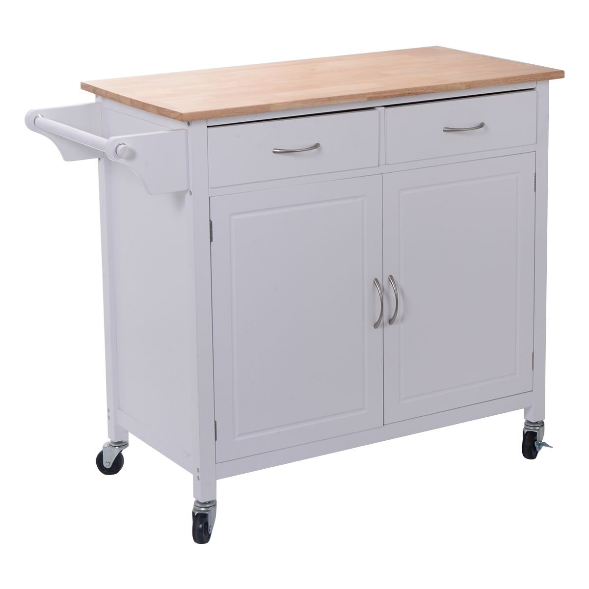 Amazon.com: Giantex Portable Kitchen Rolling Island Cart Wood Table ...