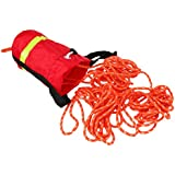 MagiDeal Buoyant Throw Rope Bag Reflective Rescue Line for Canoe Kayak 16m or 21mx8mm