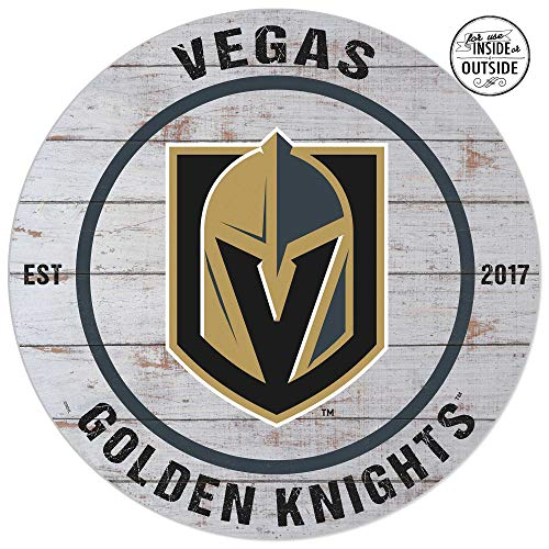 KH Sports Fan Circle Indoor/Outdoor Weathered Circle - Classic Las Vegas Golden Knights (Best Sports Fan Signs)