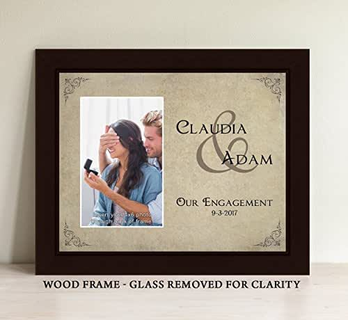 Amazon.com: Personalized Engagement Picture Frame: Handmade