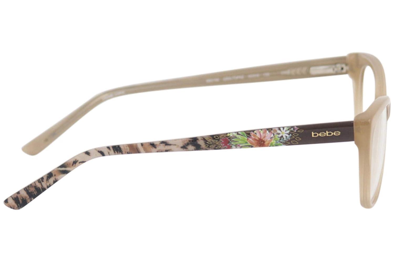 75dd40596a Amazon.com  Bebe Women s Shine Eyeglasses BB5122 BB 5122 Full Rim Optical  Frame  Clothing