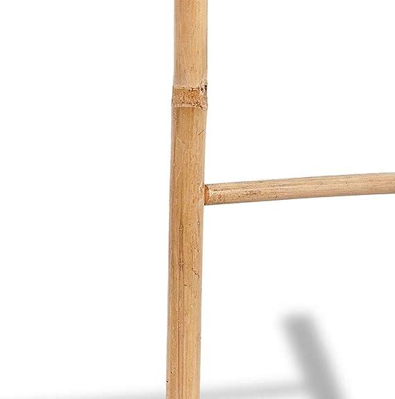 Wakects - Toallero de 6 peldaños, Escalera de bambú para Toallas de Mano o Toallas de baño, Accesorio de baño 50 x 190 cm: Amazon.es: Hogar